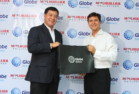 M Lhuillier And Globe Business Ink Data Center Agreement Prnews